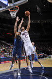 Washington Wizards v New Jersey Nets: Brook Lopez and Javale McGee Photographic Print by David Dow