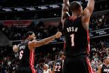 Miami Heat v Washington Wizards: LeBron James and Chris Bosh Photographic Print by Greg Fiume