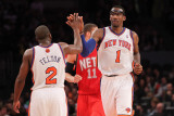 New Jersey Nets v New York Knicks: Amar&#39;e Stoudemire and Raymond Felton Photographic Print by Nick Laham
