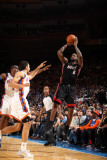 Miami Heat v New York Knicks: LeBron James, Landry Fields and Amar'e Stoudemire Photographic Print by Nathaniel S. Butler