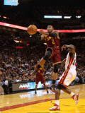 Cleveland Cavaliers  v Miami Heat: Mo Wlliams and Joel Anthony Photographic Print by Mike Ehrmann