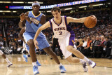 Denver Nuggets v Phoenix Suns: Goran Dragic and Al Harrington Photographic Print by Christian Petersen