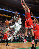 Chicago Bulls v Boston Celtics: Rajon Rondo and Joakim Noah Photo by Brian Babineau