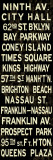 Ninth Av. Weathered Sign Stretched Canvas Print