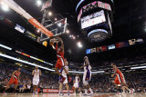 Portland Trail Blazers v Phoenix Suns: LaMarcus Aldridge and Hedo Turkoglu Photographic Print by Christian