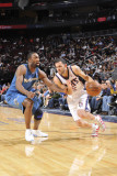 Washington Wizards v New Jersey Nets: Jordan Farmar and Gilbert Arenas Photographic Print by David Dow