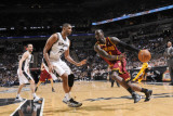 Cleveland Cavaliers  v San Antonio Spurs: J.J. Hickson and Tim Duncan Photographic Print by D. Clarke Evans