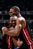 Miami Heat v Washington Wizards: Dwyane Wade and Chris Bosh Photographic Print by Greg Fiume