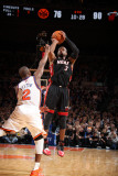 Miami Heat v New York Knicks: Dwyane Wade and Raymond Felton Photographic Print by Nathaniel S. Butler