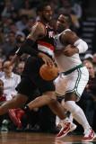 Portland Trail Blazers v Boston Celtics: LaMarcus Aldridge and Glen Davis Photographic Print by  Elsa