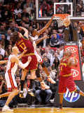 Cleveland Cavaliers  v Miami Heat: Chris Bosh and Anderson Varejao Photographic Print by Mike Ehrmann