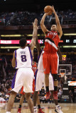 Portland Trail Blazers v Phoenix Suns: Brandon Roy and Channing Frye Photographic Print by  Christian