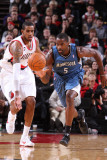 Minnesota Timberwolves v Portland Trail Blazers: LaMarcus Aldridge and Martell Webster Photographic Print by Sam Forencich