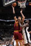 Cleveland Cavaliers  v San Antonio Spurs: Anderson Varejao and DeJuan Blair Photographic Print by D. Clarke Evans