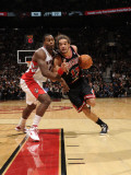Chicago Bulls v Toronto Raptors: Joey Dorsey and Joakim Noah Photographic Print by Ron Turenne