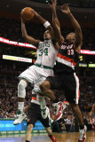 Portland Trail Blazers v Boston Celtics: Paul Pierce and Dante Cunningham Photographic Print by  Elsa
