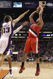 Portland Trail Blazers v Phoenix Suns: Brandon Roy and Steve Nash Photographic Print by  Christian