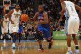 New York Knicks v Denver Nuggets: Raymond Felton and Chauncey Billups Photographic Print by Doug Pensinger