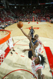 Memphis Grizzlies v Houston Rockets: Sam Young and Jordan Hill Photographic Print by Bill Baptist