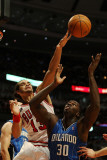 Orlando Magic v Chicago Bulls: Joakim Noah and Brandon Bass Photographic Print by Jonathan Daniel