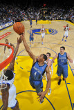 Minnesota Timberwolves v Golden State Warriors: Wesley Johnson and Reggie Williams Photographic Print by Rocky Widner