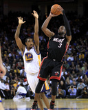 Miami Heat v Golden State Warriors: Dwayne Wade and Reggie Williams Photographic Print by Ezra
