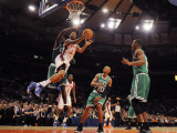 Boston Celtics v New York Knicks: Wilson Chandler and Kevin Garnett Photographic Print by Lou Capozzola