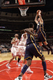 Indiana Pacers v Chicago Bulls: Josh McRoberts and Joakim Noah Photographic Print by Ray Amati