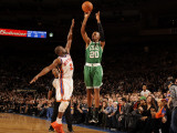 Boston Celtics v New York Knicks: Ray Allen and Raymond Felton Photographic Print by Lou Capozzola