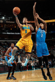 Oklahoma City Thunder v New Orleans Hornets: Marco Belinelli and Thabo Sefolosha Photographic Print by  Chris