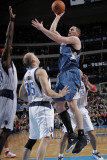 Minnesota Timberwolves v Dallas Mavericks: Kevin Love and Brian Cardinal Photographic Print by Glenn James