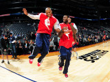 Memphis Grizzlies v Atlanta Hawks: Maurice Evans and Josh Powell Photographic Print by Scott Cunningham