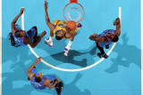 Oklahoma City Thunder v New Orleans Hornets: D.J. Mbenga Photographic Print by  Chris