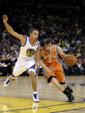Phoenix Suns v Golden State Warriors: Goran Dragic and Stephen Curry Photographic Print by Ezra Shaw