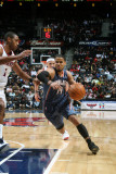 Charlotte Bobcats v Atlanta Hawks: D.J. Augustin and Al Horford Photographic Print by Scott Cunningham