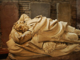 Close Up of a Marble Sculpture of a Sleeping, Bearded Man Photographic Print by Jim Richardson