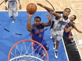 Detroit Pistons v Orlando Magic: Rodney Stuckey and Rashard Lewis Photographic Print by Fernando Medina