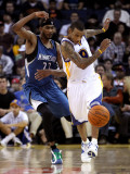 Minnesota Timberwolves v Golden State Warriors: Monta Ellis and Corey Brewer Photographic Print by Ezra Shaw