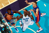 Detroit Pistons v New Orleans Hornets: Emeka Okafor and Tayshaun Prince Photographic Print by  Chris