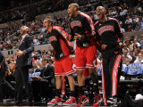 Chicago Bulls v San Antonio Spurs: Carlos Boozer, Joakim Noah, Taj Gibson and Keith Bogans Photographic Print by D. Clarke Evans