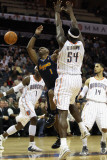 Denver Nuggets v Charlotte Bobcats: Chauncey Billups and Kwame Brown Photographic Print by Streeter