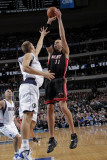 Miami Heat v Dallas Mavericks: Zydrunas Ilgauskas and Dirk Nowitzki Photographic Print by Glenn James