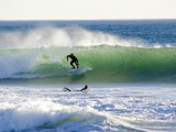 Surfers at Silver Strand Beach During a West December Swell Photographic Print by Rich Reid