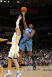 Minnesota Timberwolves v Golden State Warriors: Martell Webster and Vladimir Radmanovic Photographic Print by Rocky Widner