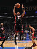 Miami Heat v Orlando Magic: Eddie House Fotografie-Druck von Fernando Medina