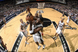 Milwaukee Bucks v San Antonio Spurs: Antonio McDyess Photographic Print by D. Clarke Evans