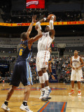 Denver Nuggets v Charlotte Bobcats: Stephen Jackson and Arron Afflalo Photographic Print by Kent Smith