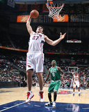 Boston Celtics v Atlanta Hawks: Zaza Pachulia Photographic Print by Scott Cunningham