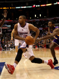 Los Angeles Lakers v Los Angeles Clippers: Eric Gordon Photographic Print by Stephen Dunn