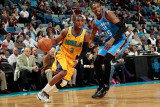 Oklahoma City Thunder v New Orleans Hornets: Chris Paul and Kevin Durant Photographic Print by  Chris